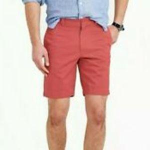 J. Crew Men's Red Chino Shorts Sz 34w